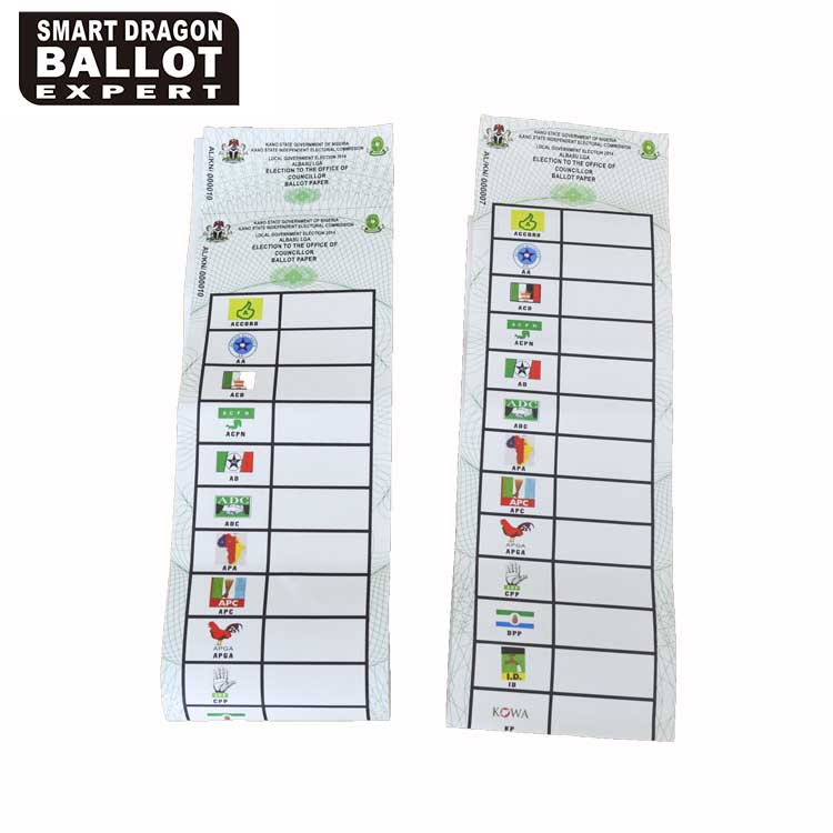 Ballot Papers Voting Card