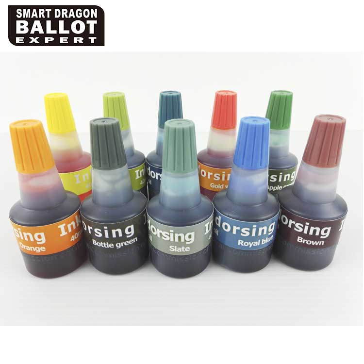 Colorful Stamp Ink For Election Or Office